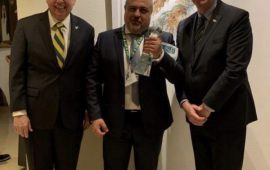 Steel Wood Industries, Dubai Branch, MP Ghassan Afiouni Honored the 1st Innovation Sustainability Award as the Founder of the University of South Florida (USF) Alumni Chapter in the GCC