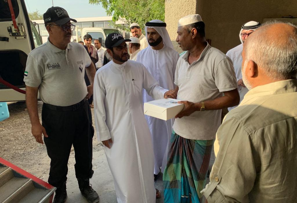 """Other expatriates should model Malayalis in terms of charity,saysMajor General Abdullah, Director of the Dubai Police """"Its delightful to distribute iftar kits to the very deserving people of labor camps"""" states Major General"""